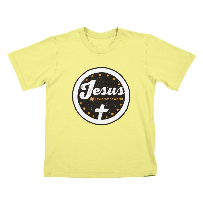 Jesus the Savior Emblem Kids T-shirt by Kelsorian T-shirt Shop