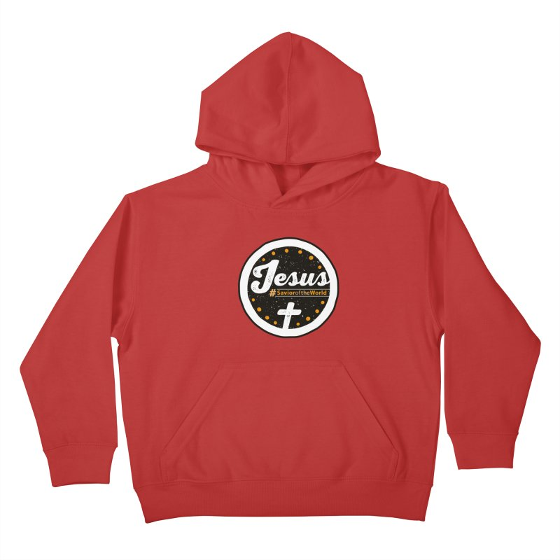 Jesus the Savior Emblem Kids Pullover Hoody by Kelsorian T-shirt Shop