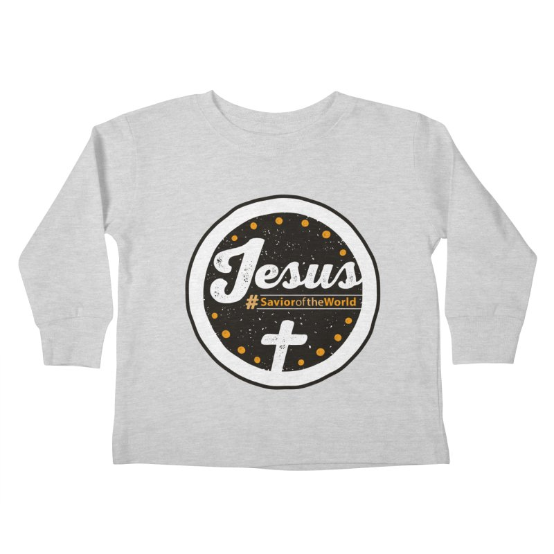 Jesus the Savior Emblem Kids Toddler Longsleeve T-Shirt by Kelsorian T-shirt Shop