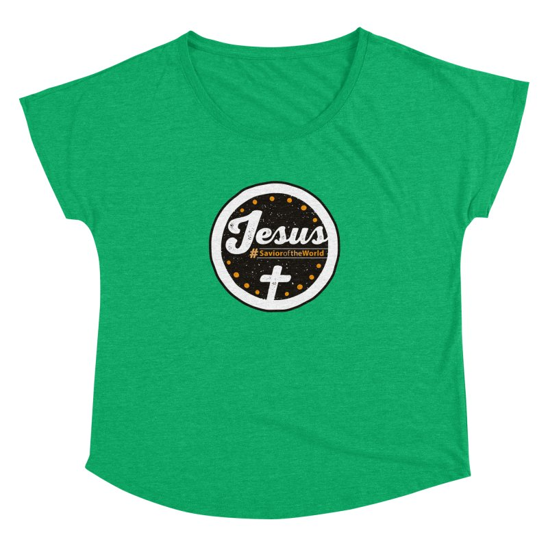 Jesus the Savior Emblem Women's Dolman by Kelsorian T-shirt Shop