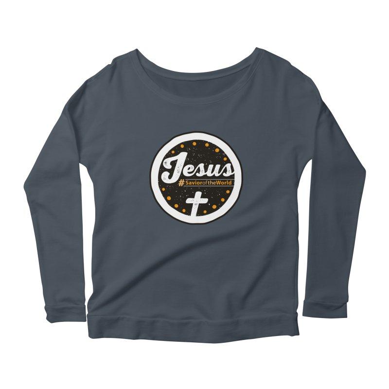 Jesus the Savior Emblem Women's Scoop Neck Longsleeve T-Shirt by Kelsorian T-shirt Shop