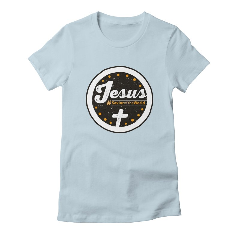 Jesus the Savior Emblem Women's Fitted T-Shirt by Kelsorian T-shirt Shop
