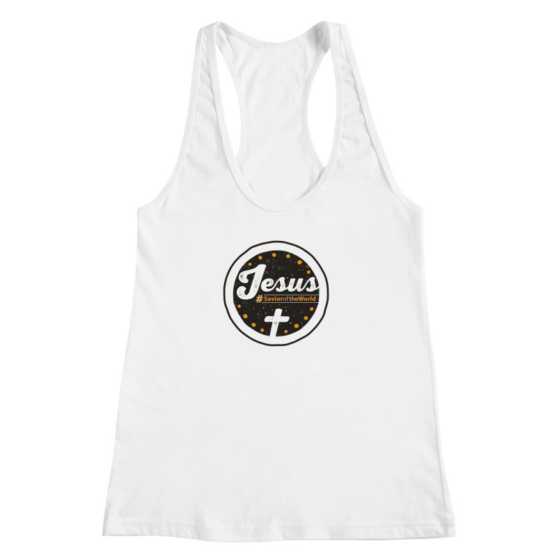 Jesus the Savior Emblem Women's Racerback Tank by Kelsorian T-shirt Shop