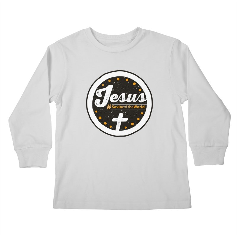 Jesus the Savior Emblem Kids Longsleeve T-Shirt by Kelsorian T-shirt Shop