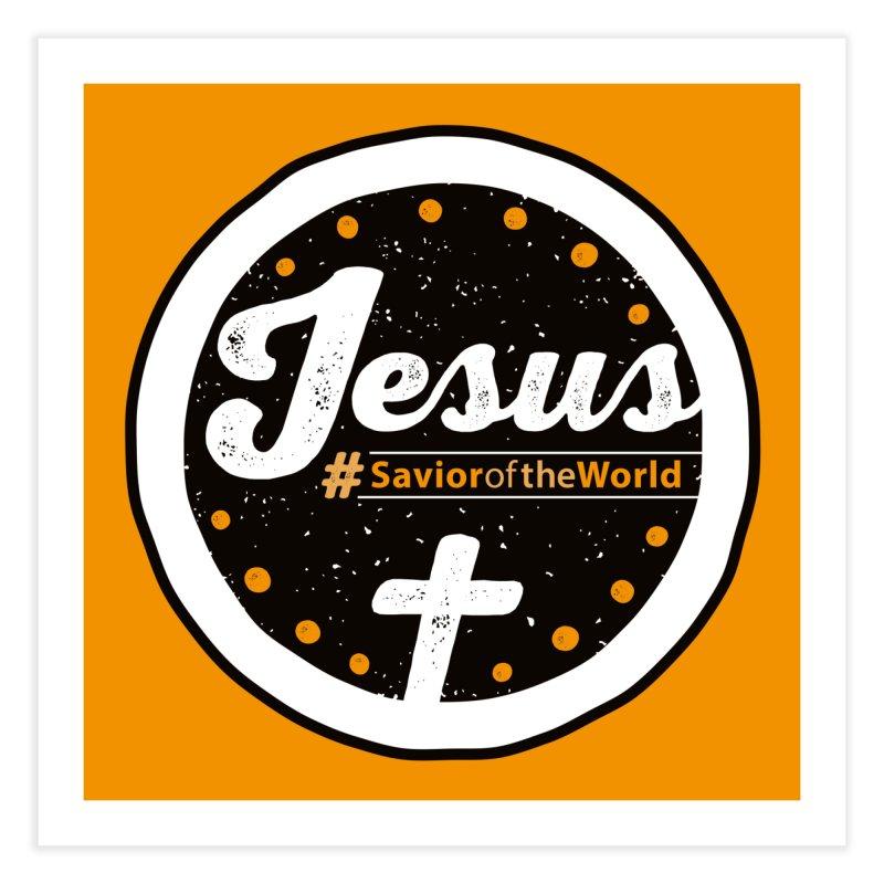 Jesus the Savior Emblem Home Fine Art Print by Kelsorian T-shirt Shop