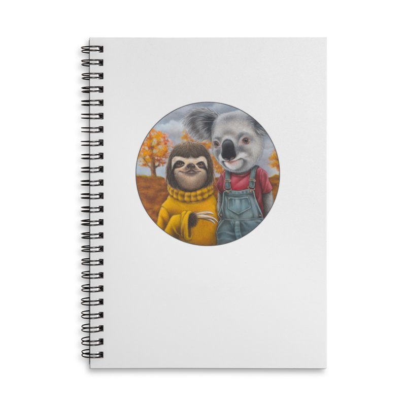 Fast Friends Accessories Lined Spiral Notebook by Ken Keirns