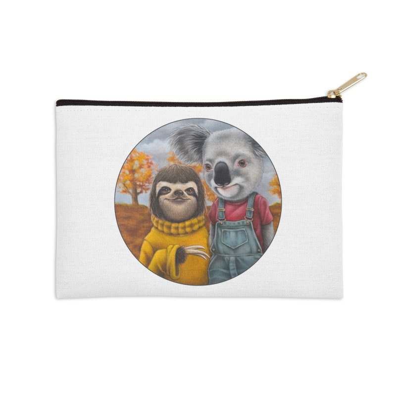 Fast Friends Accessories Zip Pouch by Ken Keirns