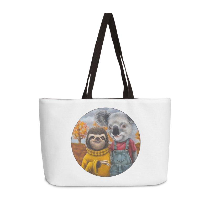 Fast Friends Accessories Weekender Bag Bag by Ken Keirns