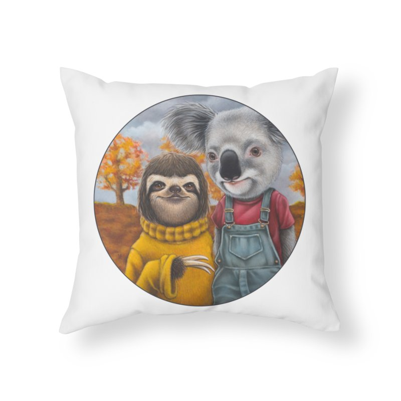 Fast Friends Home Throw Pillow by Ken Keirns