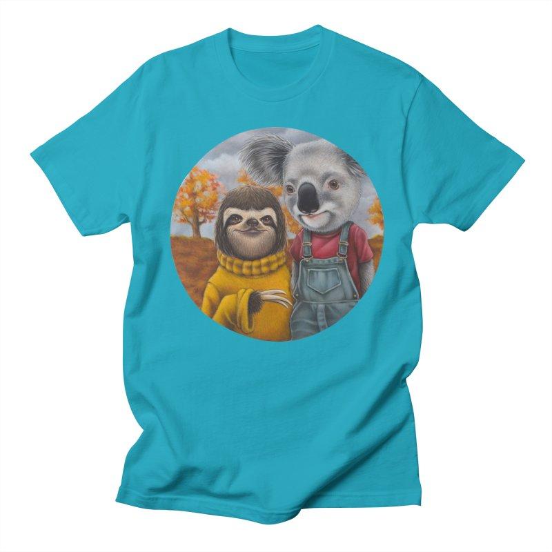 Fast Friends Men's T-shirt by kenkeirns's Artist Shop
