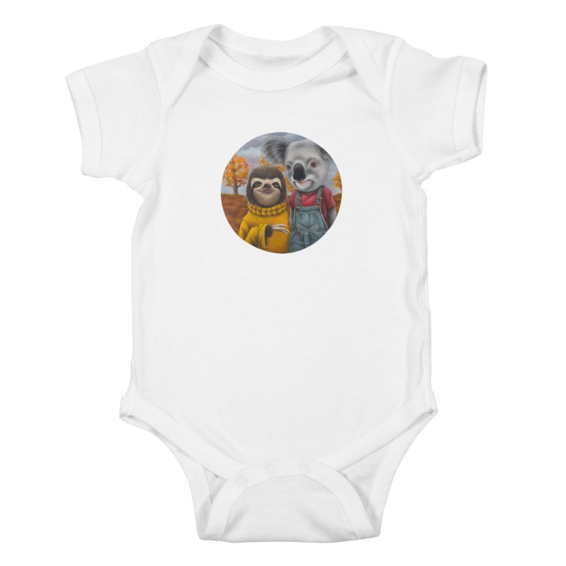 Fast Friends Kids Baby Bodysuit by kenkeirns's Artist Shop