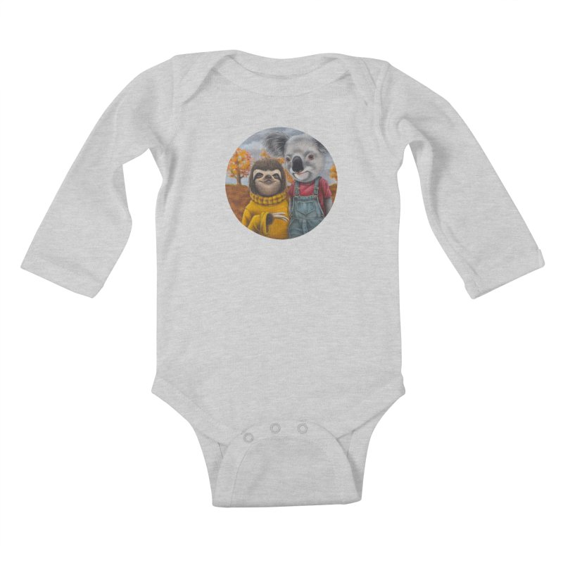 Fast Friends Kids Baby Longsleeve Bodysuit by kenkeirns's Artist Shop