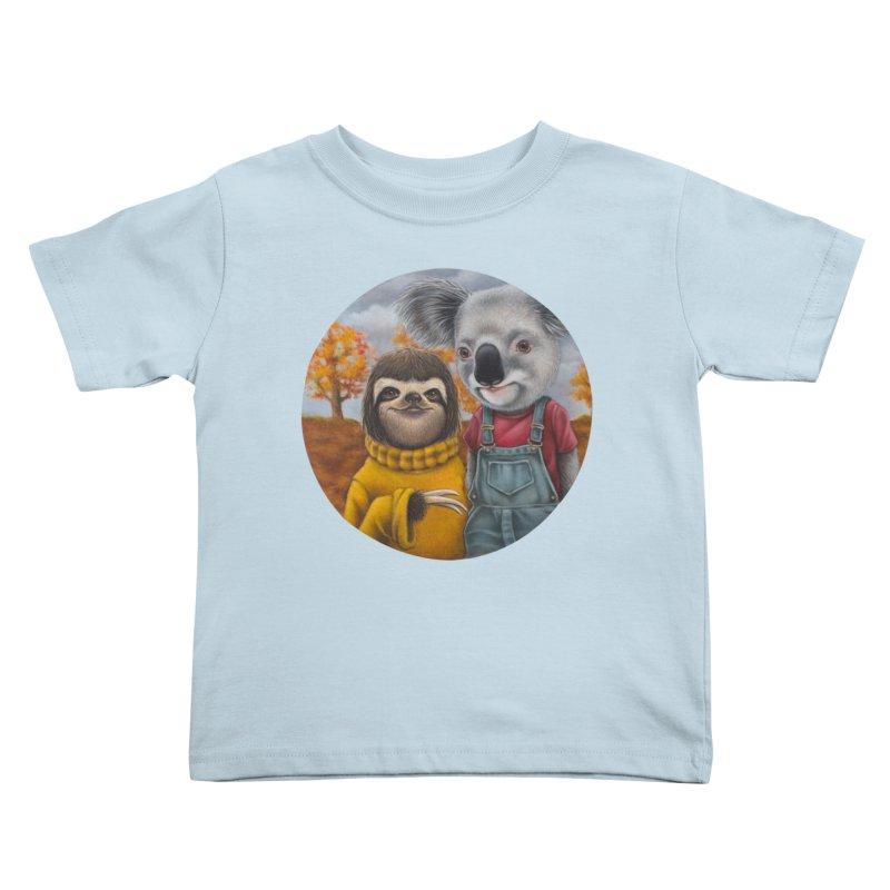 Fast Friends Kids Toddler T-Shirt by kenkeirns's Artist Shop