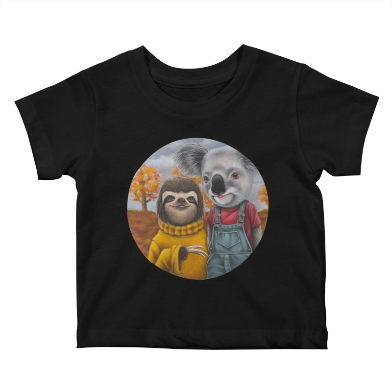 Fast Friends Kids Baby T-Shirt by kenkeirns's Artist Shop