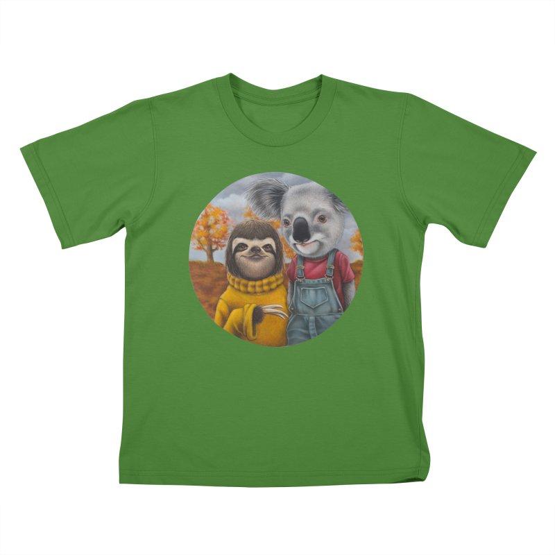 Fast Friends Kids T-shirt by kenkeirns's Artist Shop
