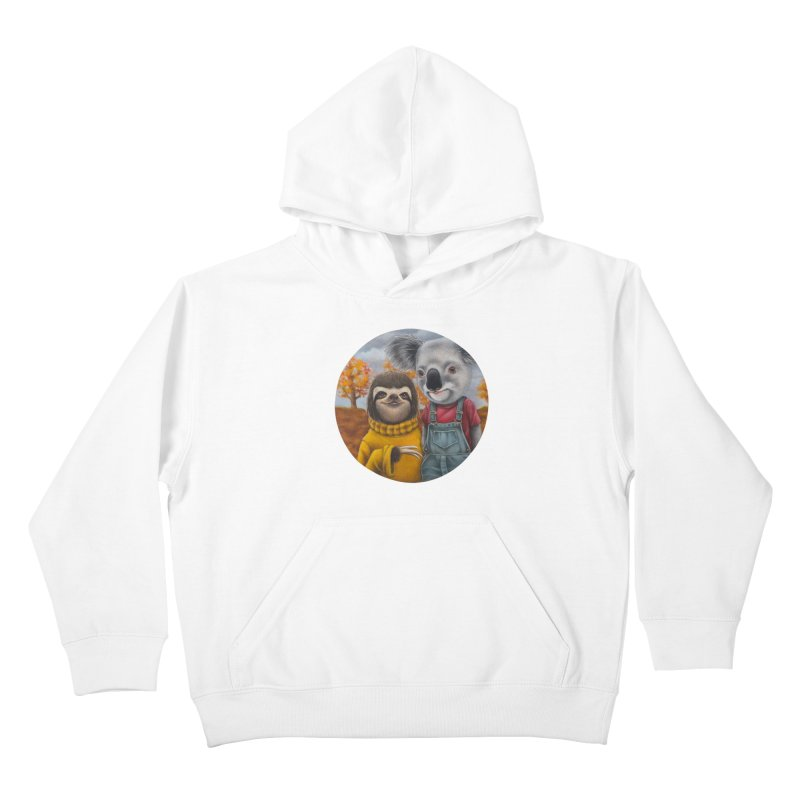 Fast Friends Kids Pullover Hoody by kenkeirns's Artist Shop