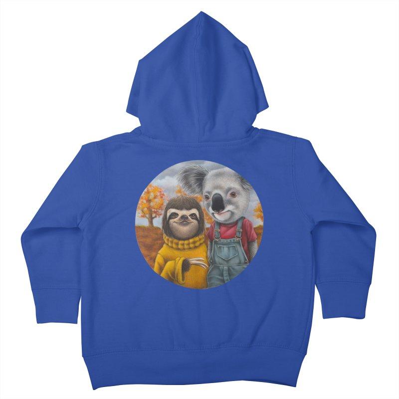 Fast Friends Kids Toddler Zip-Up Hoody by kenkeirns's Artist Shop