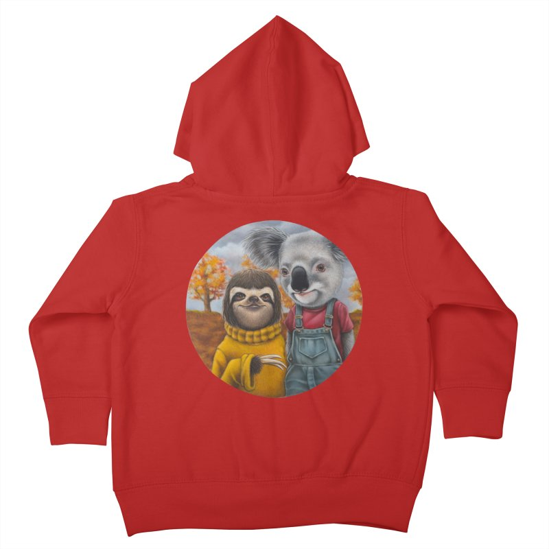 Fast Friends Kids Toddler Zip-Up Hoody by kenkeirns's Artist Shop
