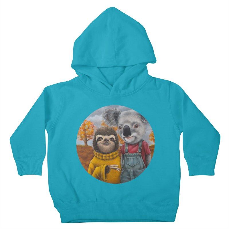 Fast Friends Kids Toddler Pullover Hoody by kenkeirns's Artist Shop