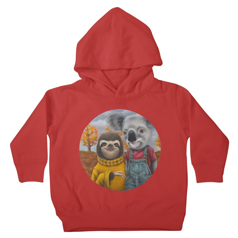 Fast Friends Kids Toddler Pullover Hoody by kenkeirns's Artist Shop