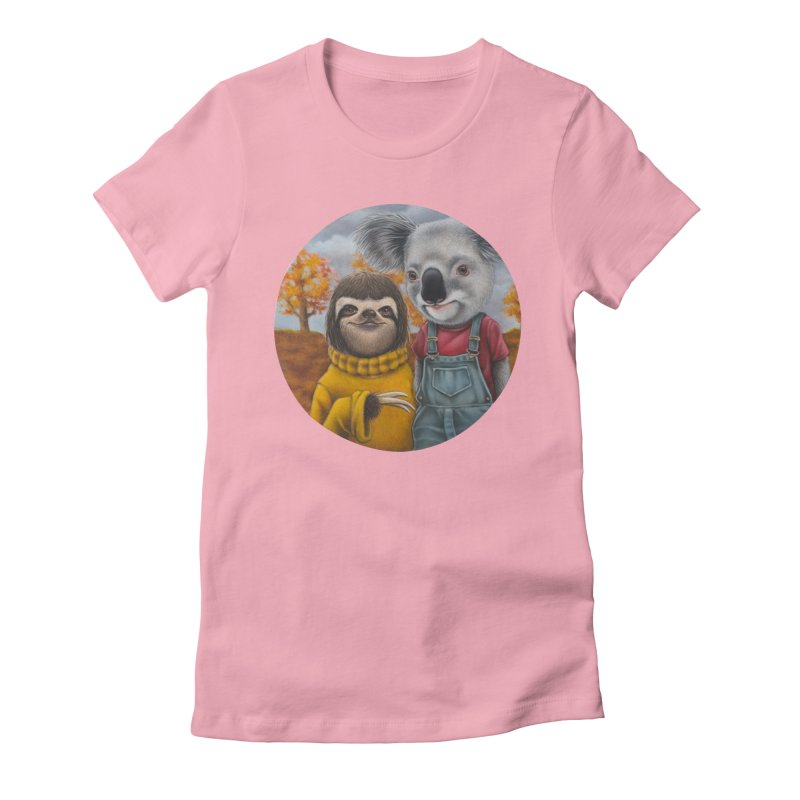 Fast Friends Women's Fitted T-Shirt by kenkeirns's Artist Shop