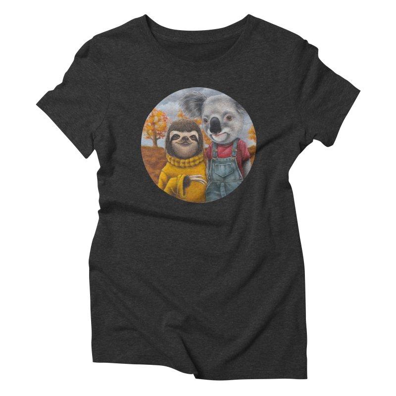 Fast Friends Women's Triblend T-shirt by kenkeirns's Artist Shop