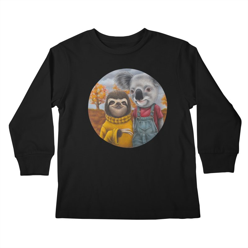 Fast Friends Kids Longsleeve T-Shirt by kenkeirns's Artist Shop