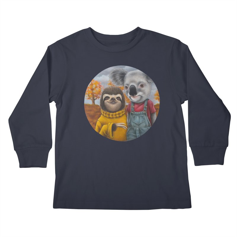 Fast Friends Kids Longsleeve T-Shirt by kenkeirns's Artist Shop