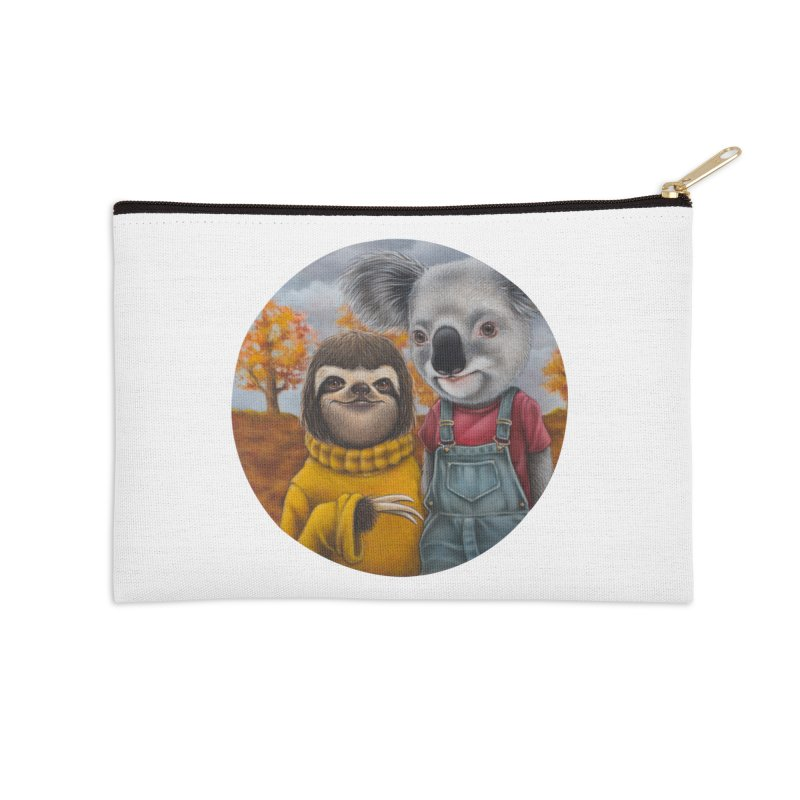 Fast Friends Accessories Zip Pouch by kenkeirns's Artist Shop