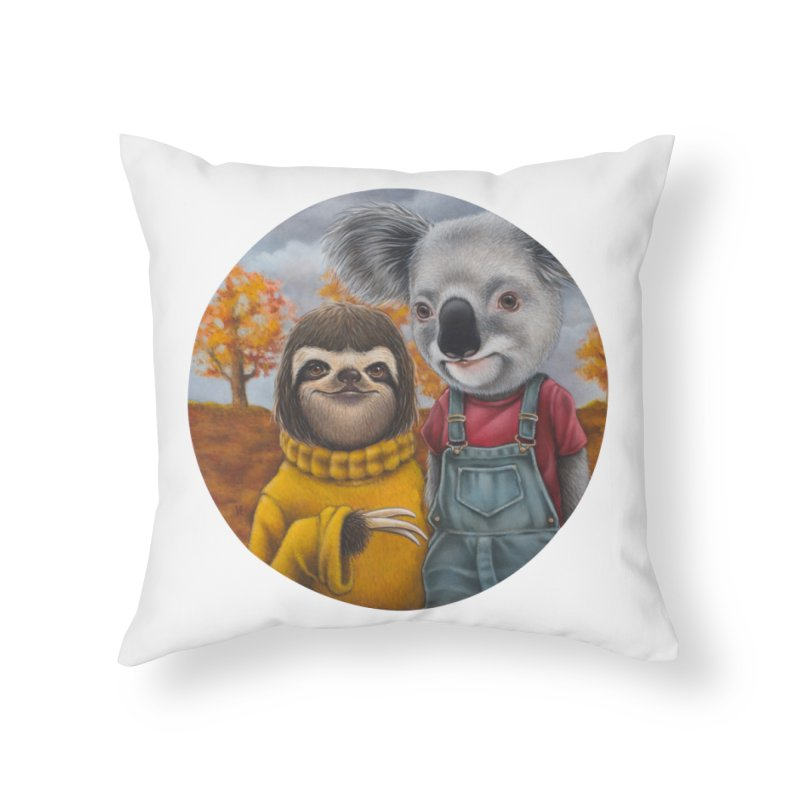 Fast Friends Home Throw Pillow by kenkeirns's Artist Shop