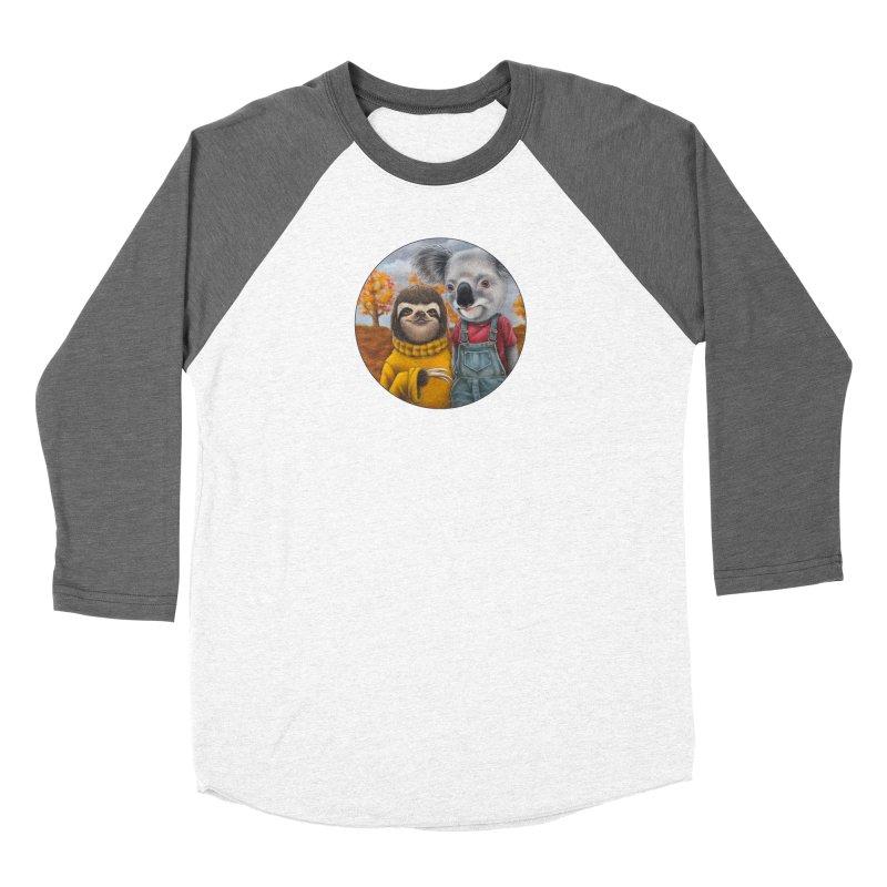 Fast Friends Men's Baseball Triblend Longsleeve T-Shirt by Ken Keirns