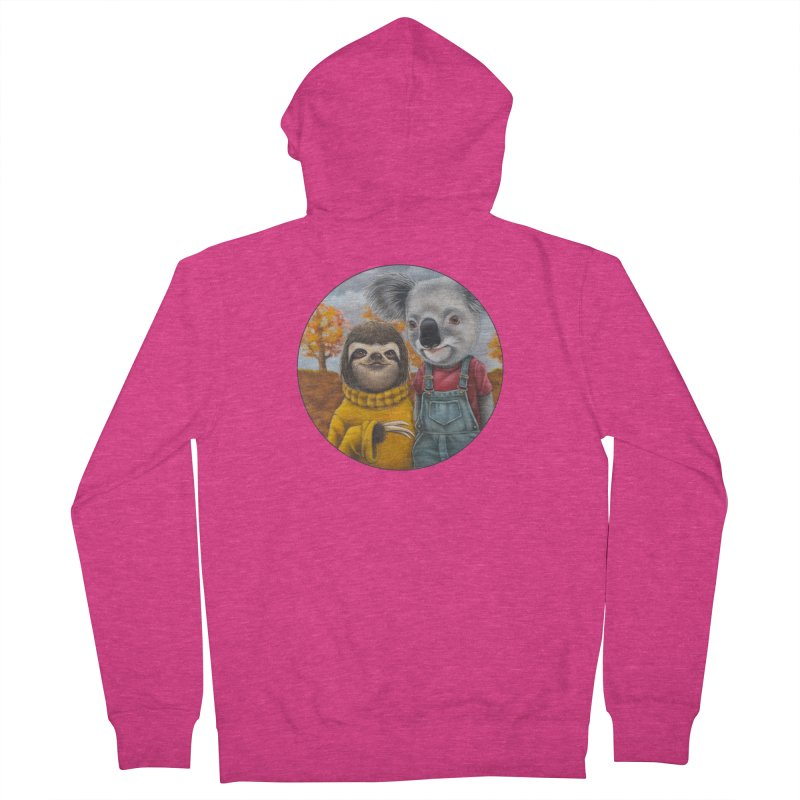 Fast Friends Women's French Terry Zip-Up Hoody by Ken Keirns