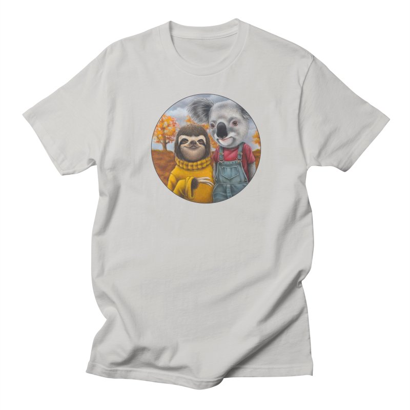 Fast Friends Women's Regular Unisex T-Shirt by Ken Keirns