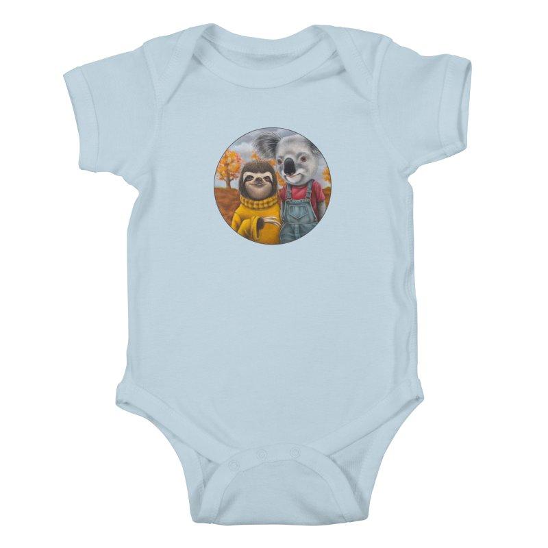 Fast Friends Kids Baby Bodysuit by Ken Keirns