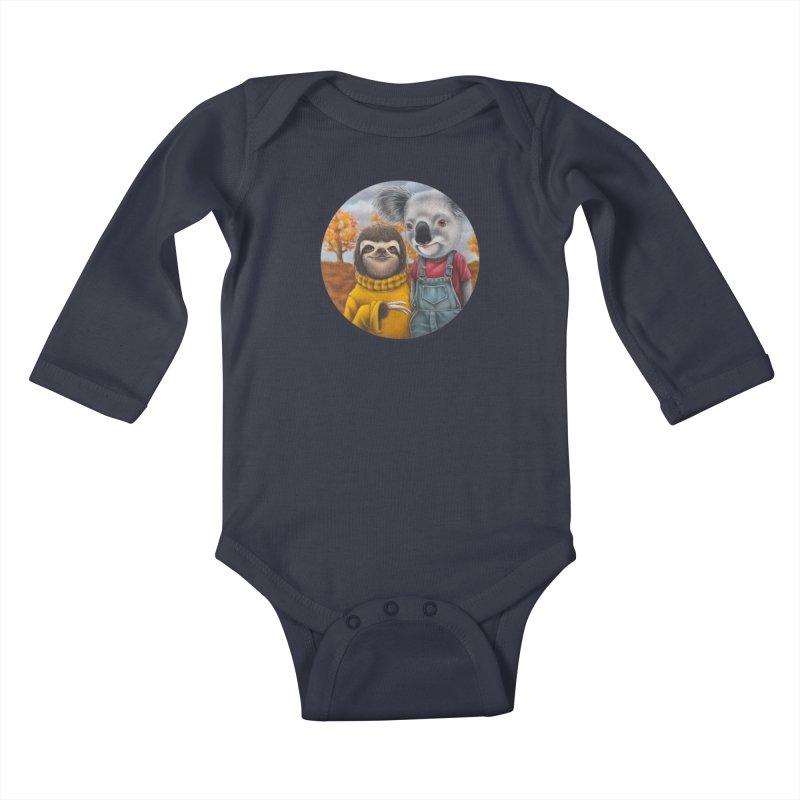 Fast Friends Kids Baby Longsleeve Bodysuit by Ken Keirns