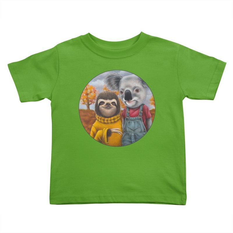 Fast Friends Kids Toddler T-Shirt by Ken Keirns