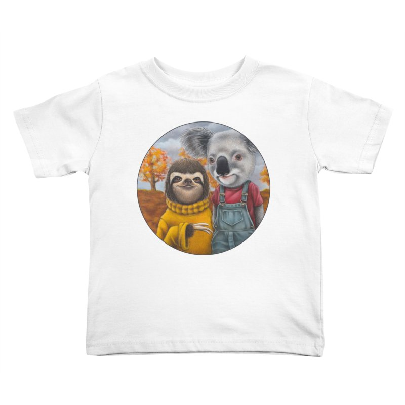 Fast Friends Kids Toddler T-Shirt by Ken Keirns