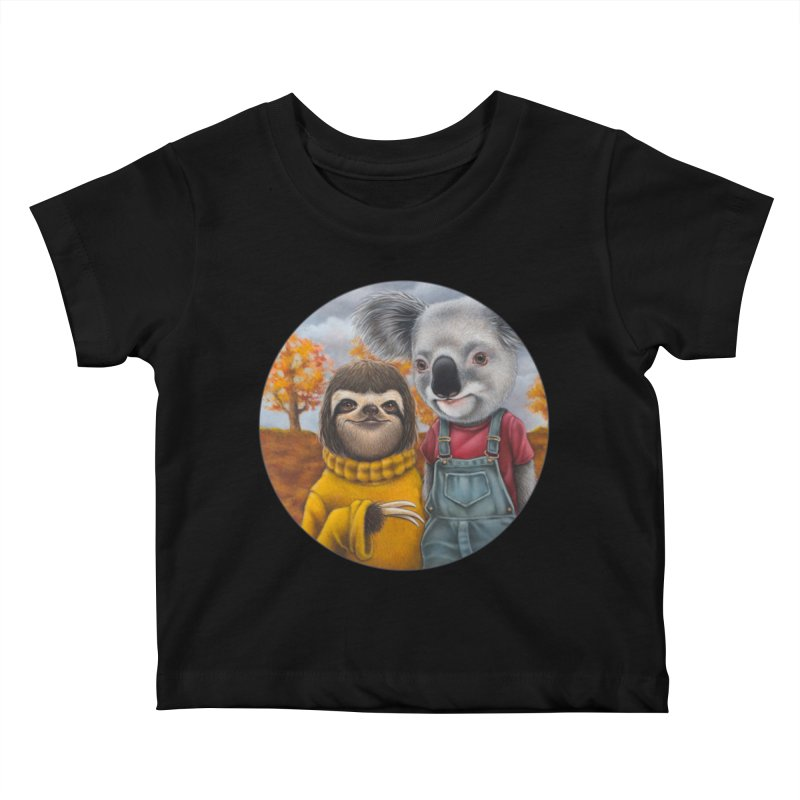 Fast Friends Kids Baby T-Shirt by Ken Keirns