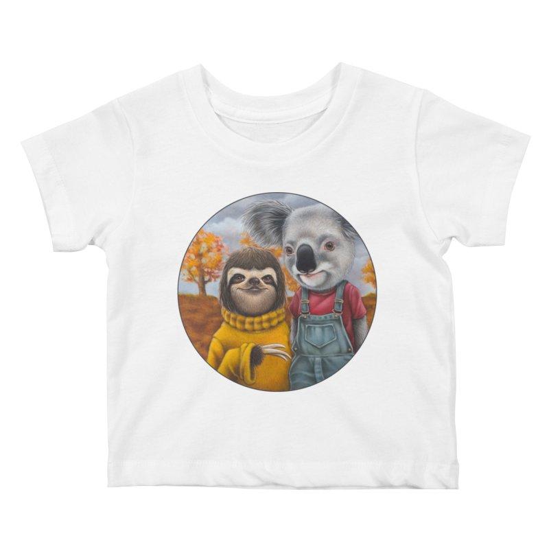 Fast Friends Kids Baby T-Shirt by Ken Keirns