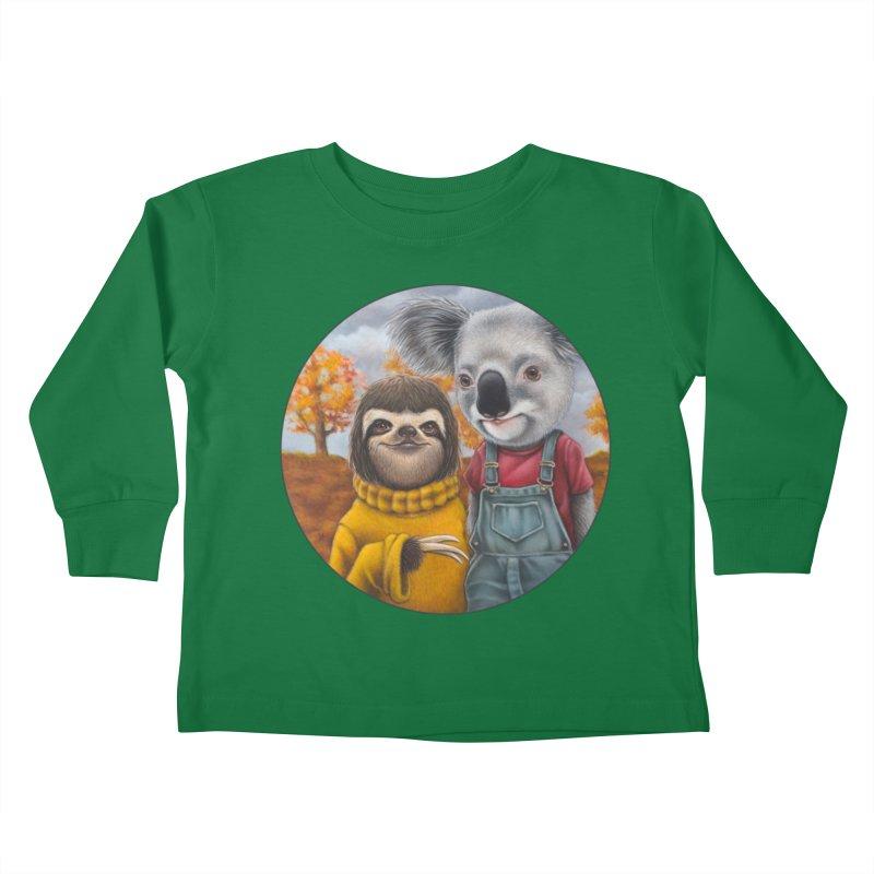 Fast Friends Kids Toddler Longsleeve T-Shirt by Ken Keirns