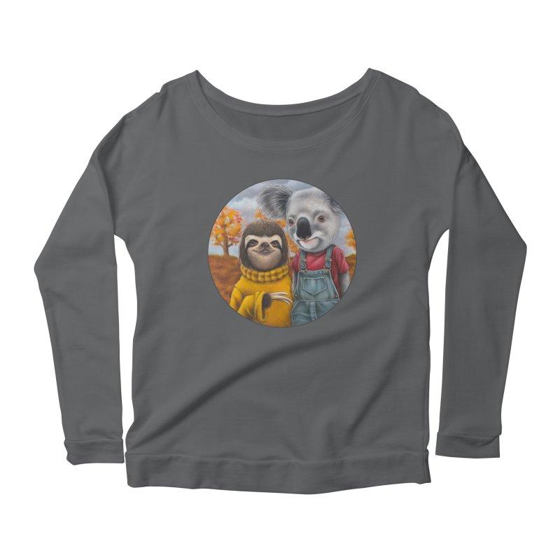 Fast Friends Women's Scoop Neck Longsleeve T-Shirt by Ken Keirns