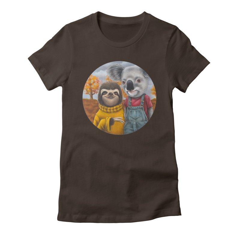 Fast Friends Women's Fitted T-Shirt by Ken Keirns