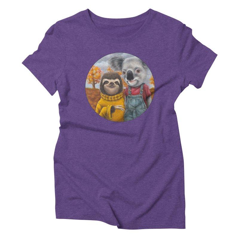 Fast Friends Women's Triblend T-Shirt by Ken Keirns