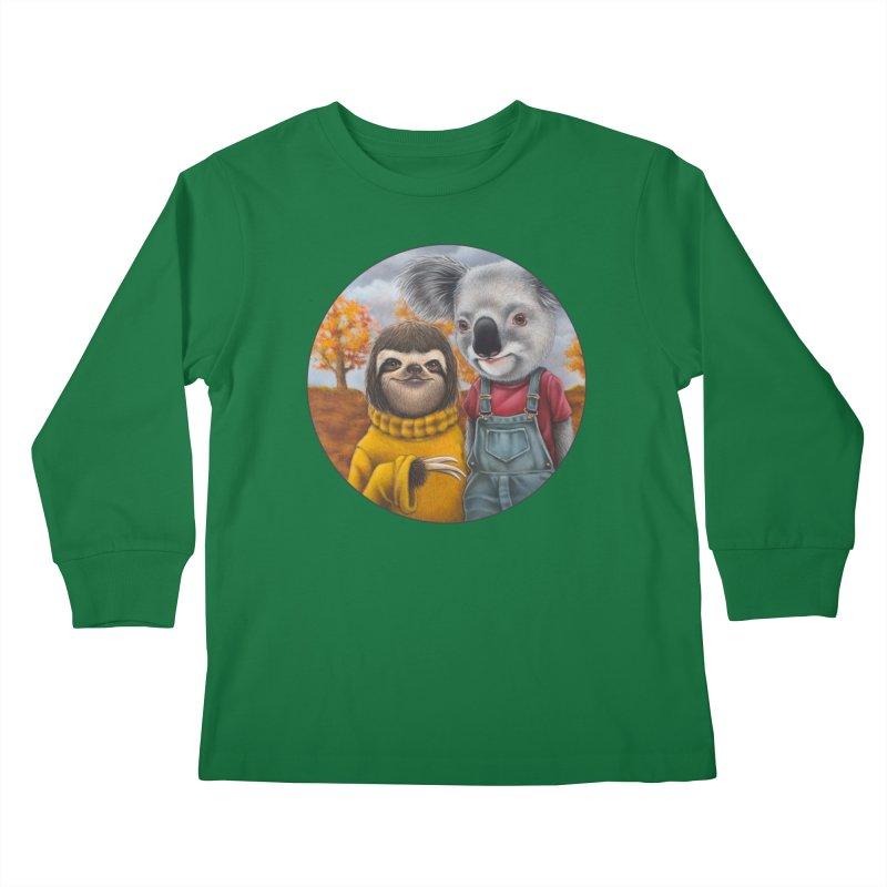 Fast Friends Kids Longsleeve T-Shirt by Ken Keirns