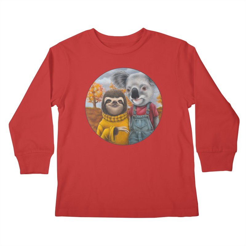 Fast Friends Kids Longsleeve T-Shirt by Ken Keirns