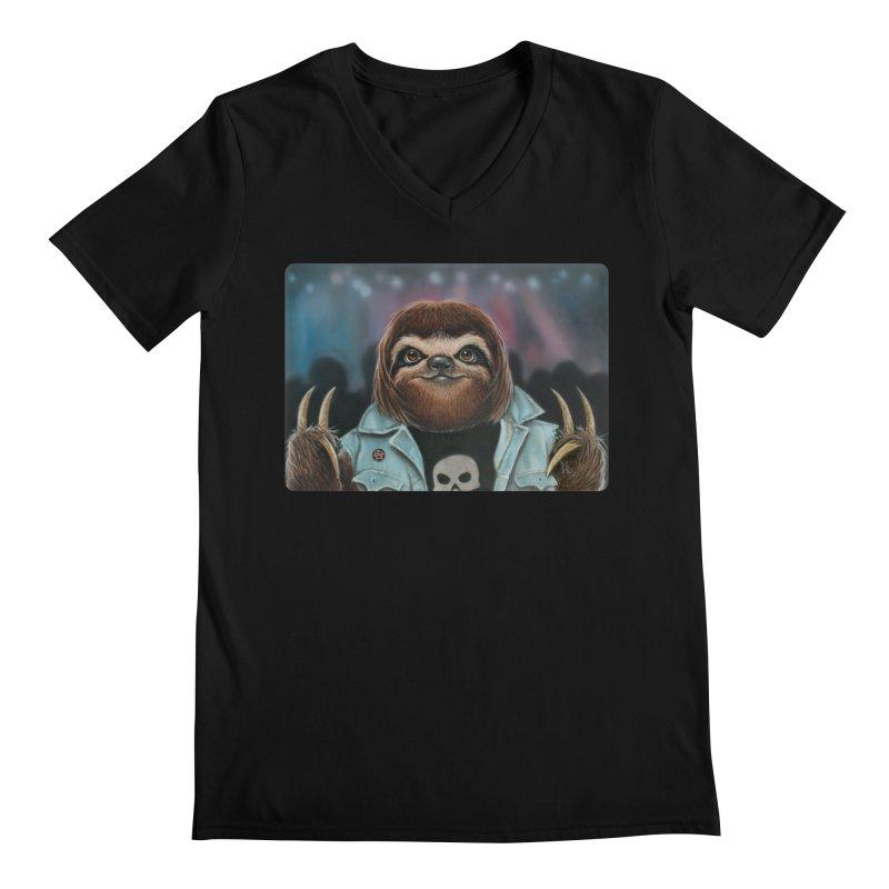 Metal Sloth Men's V-Neck by kenkeirns's Artist Shop