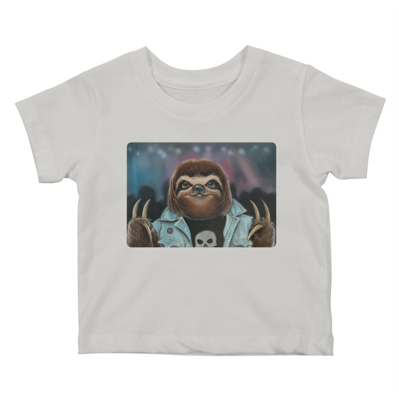 Metal Sloth Kids Baby T-Shirt by kenkeirns's Artist Shop