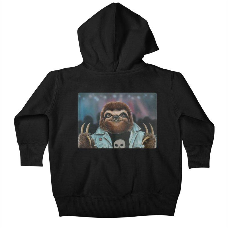 Metal Sloth Kids Baby Zip-Up Hoody by kenkeirns's Artist Shop