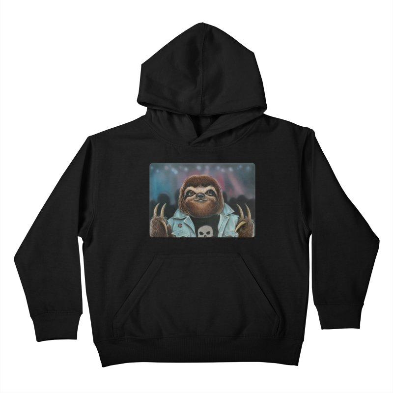 Metal Sloth Kids Pullover Hoody by kenkeirns's Artist Shop