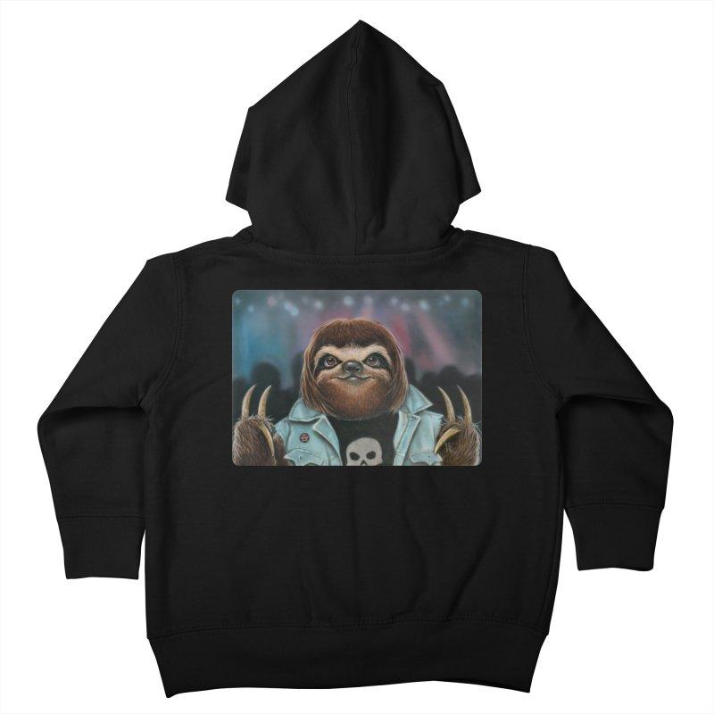 Metal Sloth Kids Toddler Zip-Up Hoody by kenkeirns's Artist Shop